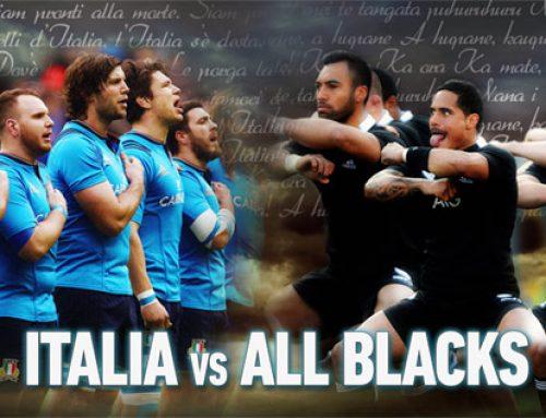 """Rugby: Azzurri Vs All Blacks,con Chin8, Limoncedro, Aranciosa e Gassosa,i tifosi """"NERI"""" con gusto."""