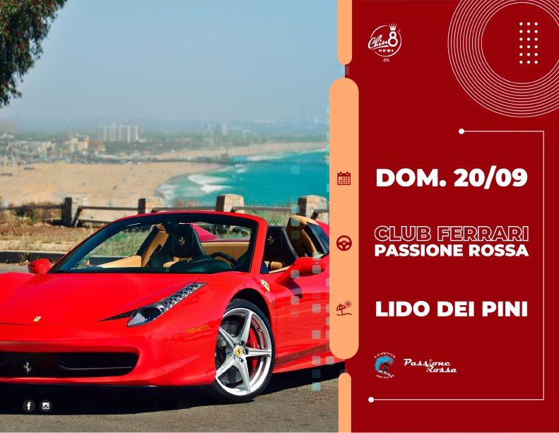 CLUB PASSIONE ROSSA ON THE BEACHARDEA, LIDO DEI PINI @ STABILIMENTO LA LUPETTADomenica 20 Settembre